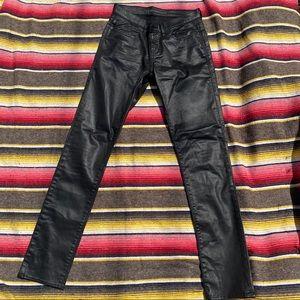Rock & Republic Shiny Black Slim Jeans sz 6